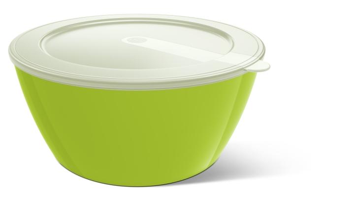 Abverkauf: Melamin-Schale mit Deckel, Ø 24 cm, Inhalt 3,5 Liter, Farbe hellgrün