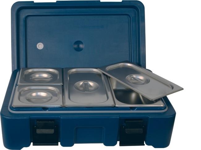 Abverkauf: Thermo-Transportbehälter für GN-Behälter, Größe GN 1/1, Farbe blau
