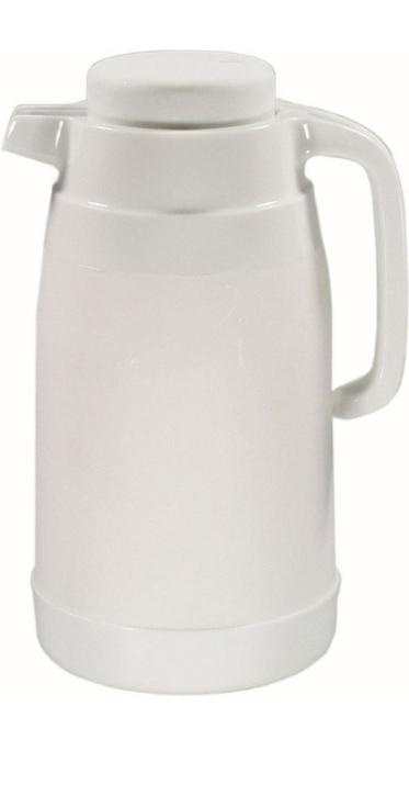Isolierkanne 1,00 Liter, weißer Kunststoff, Ø 120 x H 250 mm