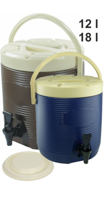 Thermo-Getränkebehälter, außen HDPE-Kunststoff, Innenbehälter Edelstahl (Variante wählen)