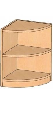 Eckregal, B/H/T 40 x 60 x 40 cm