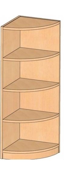 Eckregal, B/H/T 40 x 120 x 40 cm