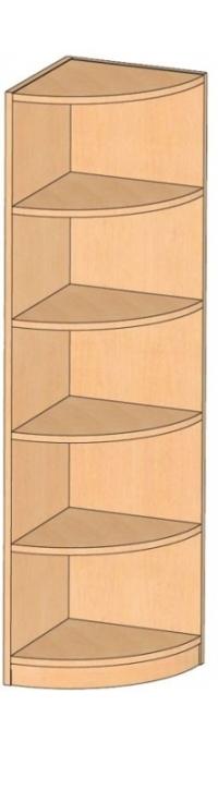 Eckregal, B/H/T 40 x 160 x 40 cm