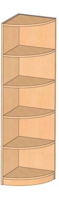 Eckregal, B/H/T 40 x 180 x 40 cm