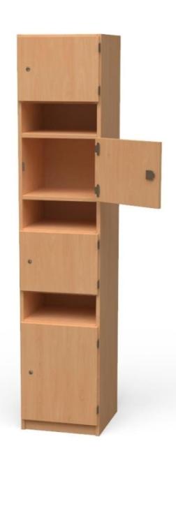 Lehrerfachschrank, B/H/T: 40×190×40 cm