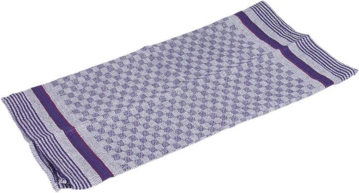 Grubentuch 100 x 50 cm, kochfest, trocknergeeignet, blau/grau kariert