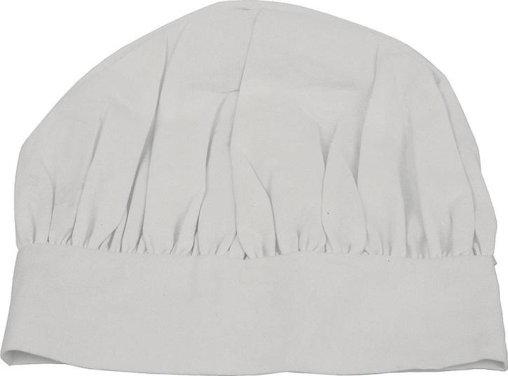 Kochmütze mit Klettverschluss, Höhe 30 cm, 100 % Baumwolle, 90° C Kochwäsche