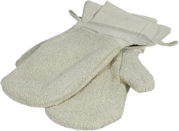 Hitze-Handschuhe, 40 cm, beige, 100 % Baumwolle, 40° C Wäsche (Preis pro Paar)