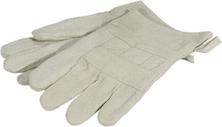 Hitze-Fingerhandschuhe, 30 cm,  beige, 100 % Baumwolle, 40° C Wäsche (Preis pro Paar)