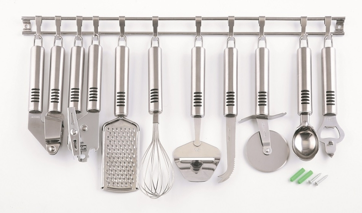 Abverkauf: Küchenhelfer-Leiste 10-tlg.