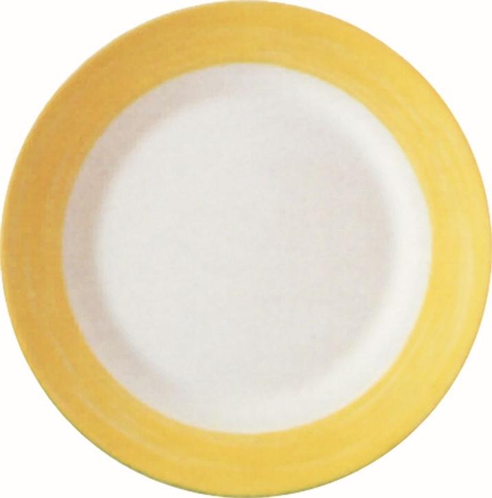 Mittagsteller / Teller flach Ø 23,5 cm Brush GELB, Höhe 2,6 cm, stapelbar