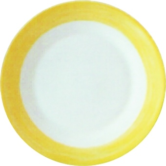Frühstücks- / Dessertteller Ø 19,5 cm Brush GELB, Höhe 2,2 cm