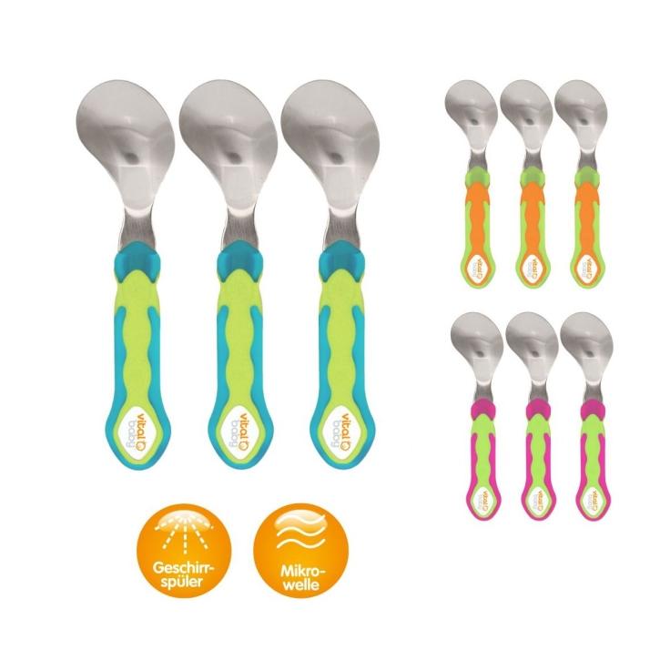 Esslern-Löffel gebogen, 3er-Set (Farbe wählen)