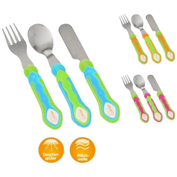 Esslern-Besteck, 3er-Set (Farbe wählen)