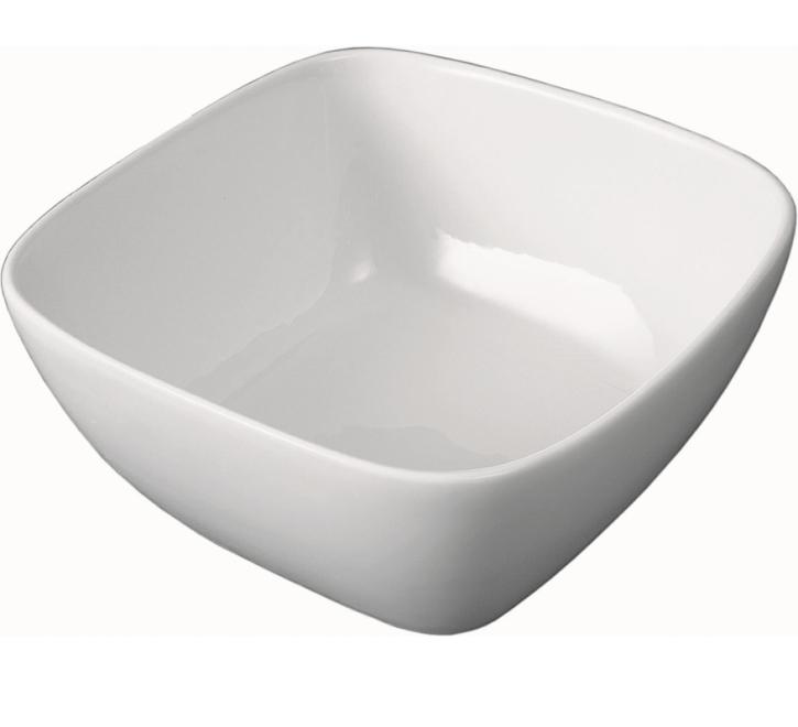 """Porzellan Serie """"gut & günstig"""" - (5) Schale quadratisch mit Stapelrand 0,75 Liter, 15 x 15 cm, H 67 mm"""