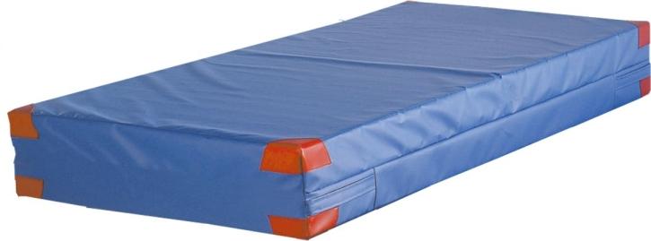 Weichbodenmatte, bietet Fallschutz, 8 Lederecken, 4 Trageschlaufen, 200x200x25 cm