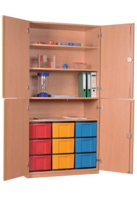 Materialschrank mit 4 Türen B/H/T: 95 x 190 x 50 cm