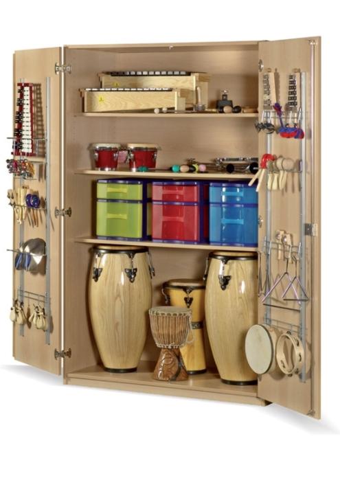 Instrumentenschrank mit Kunststoffschüben, B/H/T: 105×190×60 cm