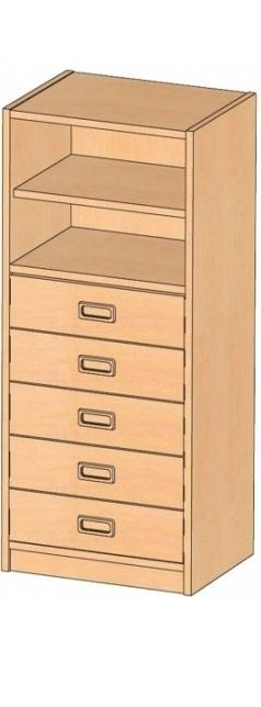 Korpusschrank mit Dekorblenden, B/H/T 52 x 120 x 40 cm
