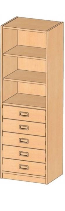 Korpusschrank mit Dekorblenden, B/H/T 52 x 160 x 40 cm