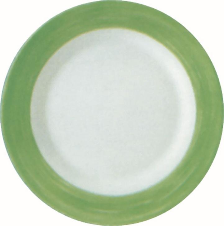 Suppenteller / Teller tief Ø 22,5 cm Brush GRÜN, Höhe 3,5 cm, stapelbar
