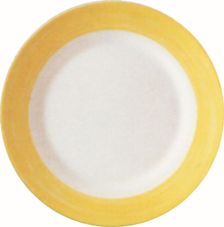 Suppenteller / Teller tief Ø 22,5 cm Brush GELB, Höhe 3,5 cm, stapelbar