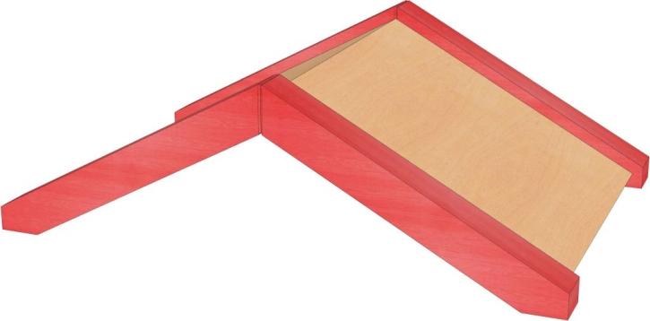 Stollendach, B/H/T: 56 x 25,5 x 40 cm