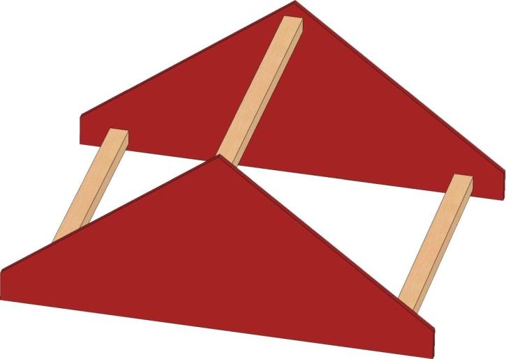 Motivaufsatz Dach, B/H/T: 56 x 35 x 40 cm