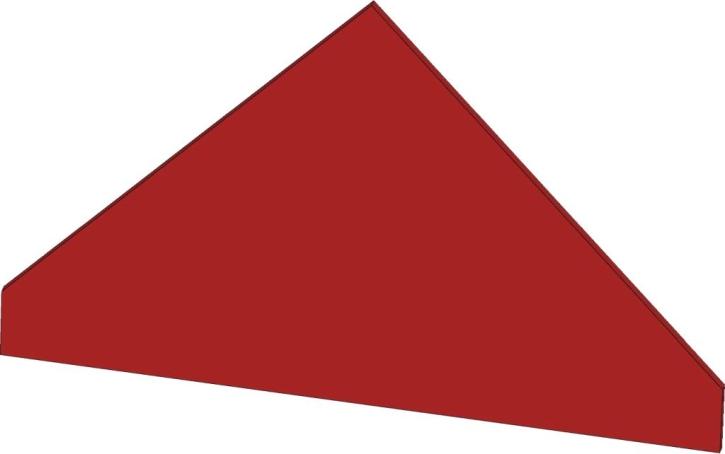 Blenddach Dreieck, B/H/T: 48 x 35 x 40 cm