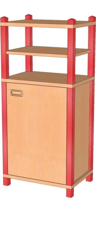 Stollenschrank Breite 56 cm, 120 cm Hoch