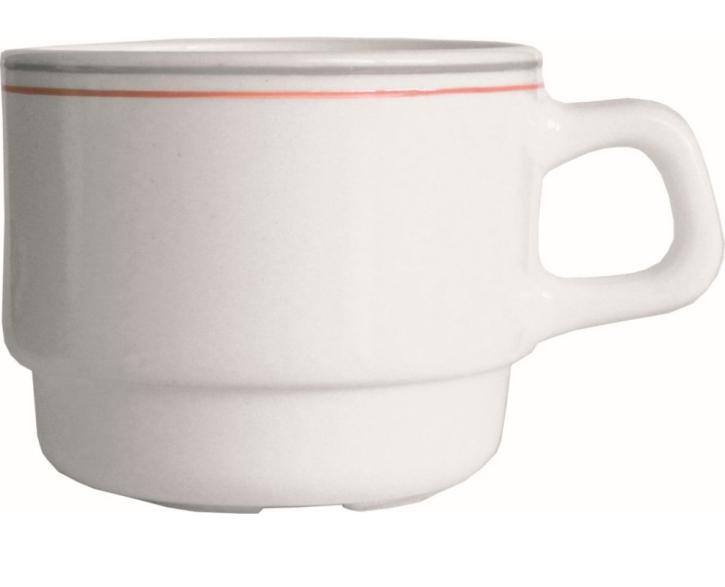 "Hartglas ""Valerie"" - Obertasse stapelbar 0,19 Liter, Ø 78 x H 64 mm"