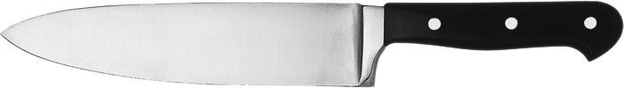 (1) Kochmesser, Klinge 16 cm, vollgeschmiedeter rostfreier Stahl, dreifach genietet