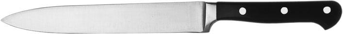 (2) Tranchiermesser, Klinge 16 cm, vollgeschmiedeter rostfreier Stahl, dreifach genietet