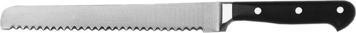(3) Brotmesser, Klinge 22 cm, vollgeschmiedeter rostfreier Stahl, dreifach genietet
