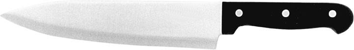 (1) Kochmesser, Klinge 20 cm, spülmaschinenfest, dreifach genietet, Melamingriff