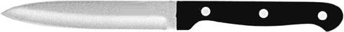 (3) Officemesser, Klinge 9 cm, spülmaschinenfest, dreifach genietet, Melamingriff