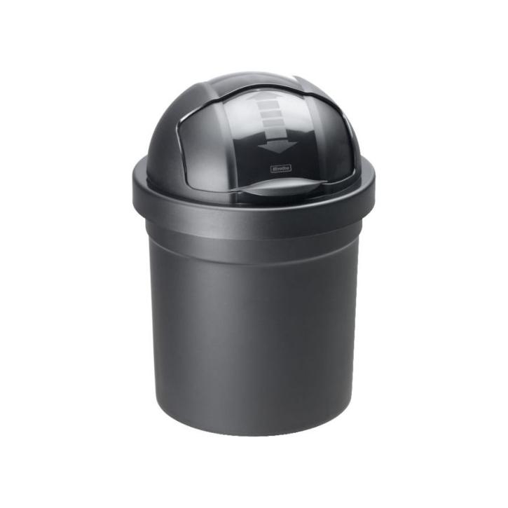 """Kunststoff-Eimer """"Rollbob"""", 10 Liter, Ø 26,5 × H 39,5 cm, SCHWARZ"""
