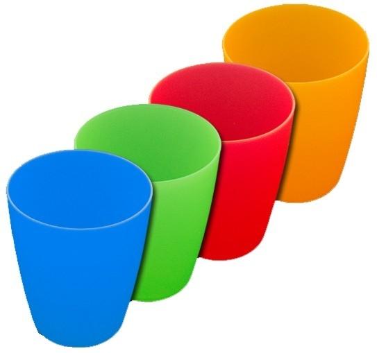 Becher aus Polypropylen, 200 ml (Farben wählen)