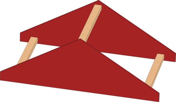 Motivaufsatz Dach, B/H/T: 82 x 35 x 40 cm
