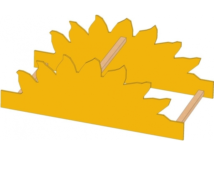 Motivaufsatz Sonne, B/H/T: 82 x 35 x 40 cm
