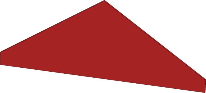 Blenddach Dreieck, B/H/T: 74 x 35 x 40 cm