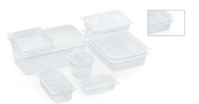 Abverkauf: Polycarbonat-Gastronormbehälter, Modell 1/1, Tiefe 200 mm, ca. 21 Ltr.
