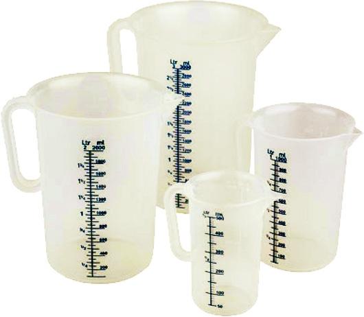 Messbecher aus Polypropylen, 1,00 Liter, Ø 120 x H 170 mm