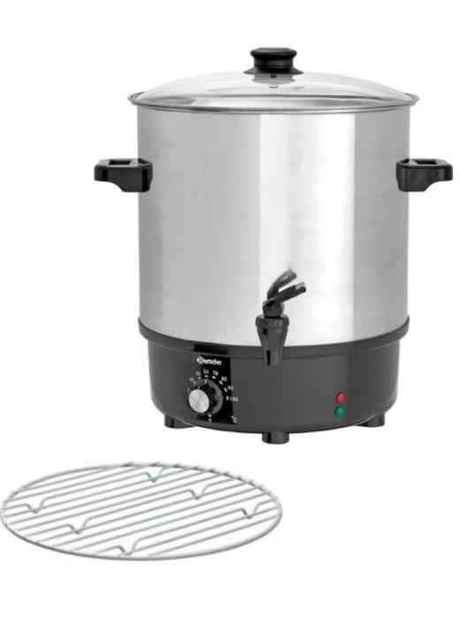 Glühweintopf / Einkochtopf 25 Liter, inkl. Rost