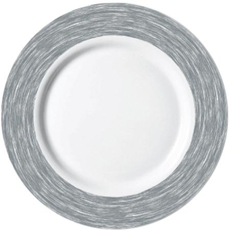 Kuchenteller / Teller flach Ø 15,5 cm Brush GRAU, Höhe 18 mm, stapelbar