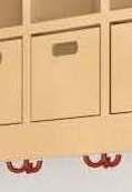 (15) Ablagebox aus Buche Massivholz, B 17 x H 16,5 x T 17 cm, passend für Doppelablagen