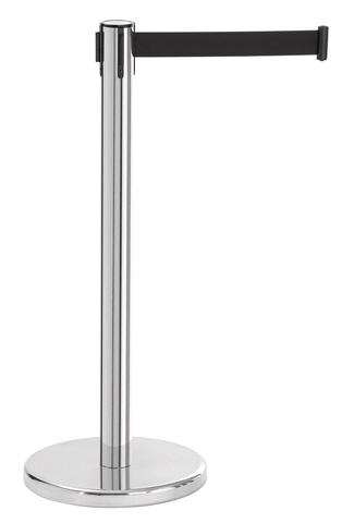 Absperrständer mit 1,8 m langem Zugband, Ø 36 × H 92 cm