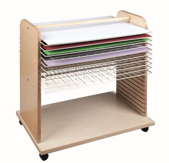 Bildertrockenwagen für Bildformate 70 x 50 cm, B/H/T 80 x 70 x 52 cm