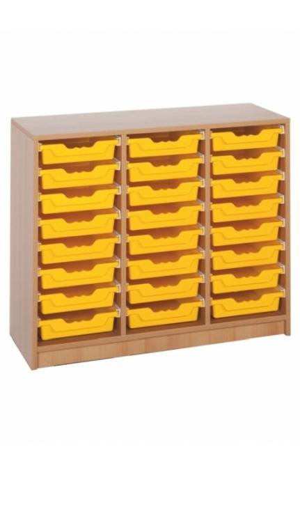"Regal mit 24 Ergo Tray Boxen ""M"", B/H/T: 104,5 x 82,8 x 40 cm"