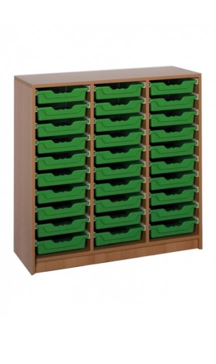 "Regal mit 30 Ergo Tray Boxen ""M"", B/H/T: 104,5 x 100,7 x 40 cm"